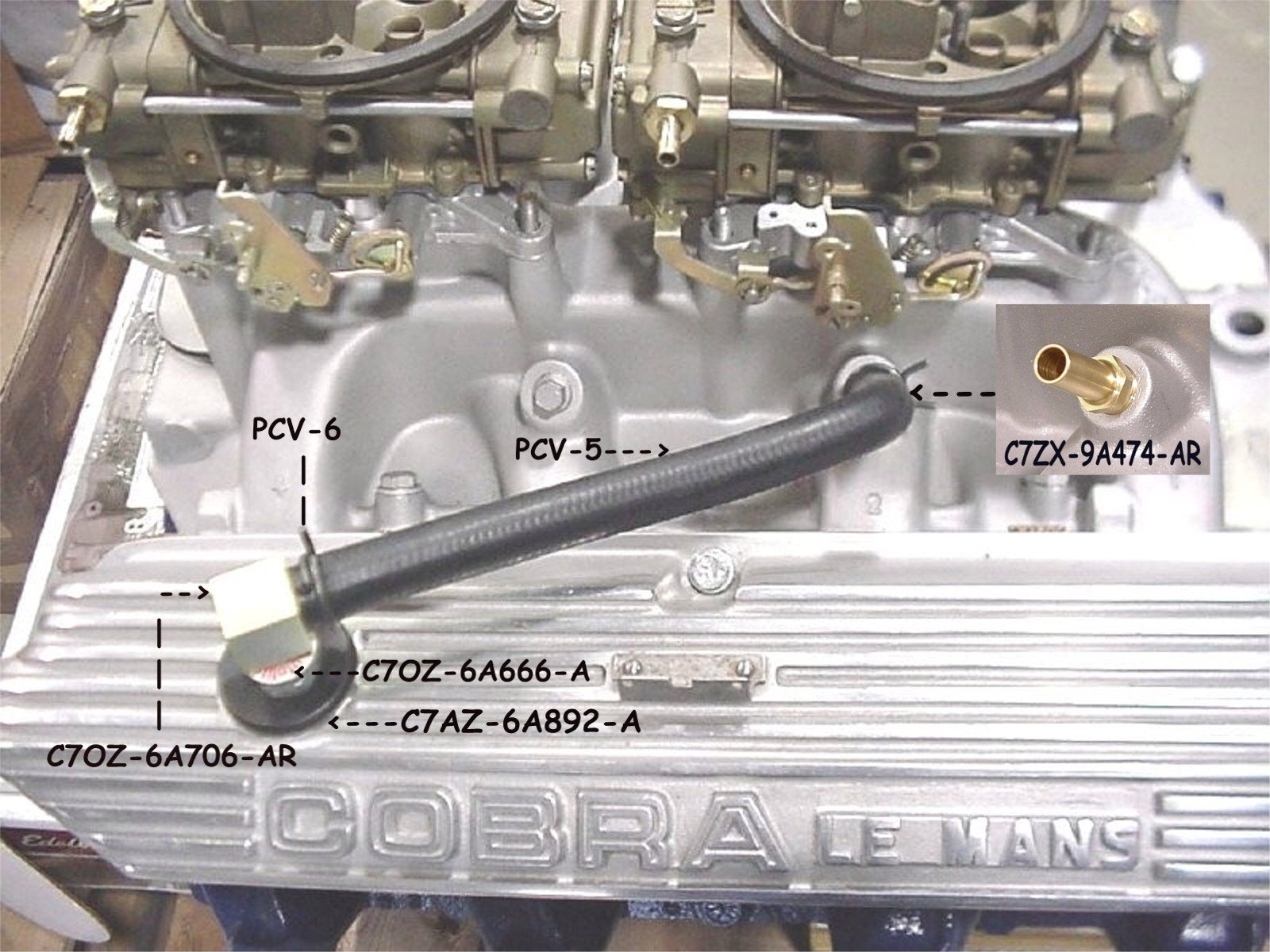 A on Ford Mustang Emission System Diagram