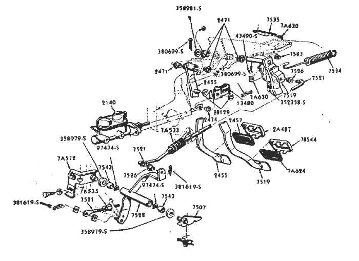 332-428 ford fe engine forum: '68 390 clutch pedal to z ... 1968 ford mustang wiring diagram 1967 clutch linkage 1968 ford mustang fuse diagram